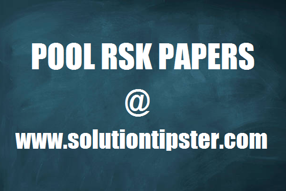 POOL RSK PAPERS Archives - SolutionTipster : SolutionTipster