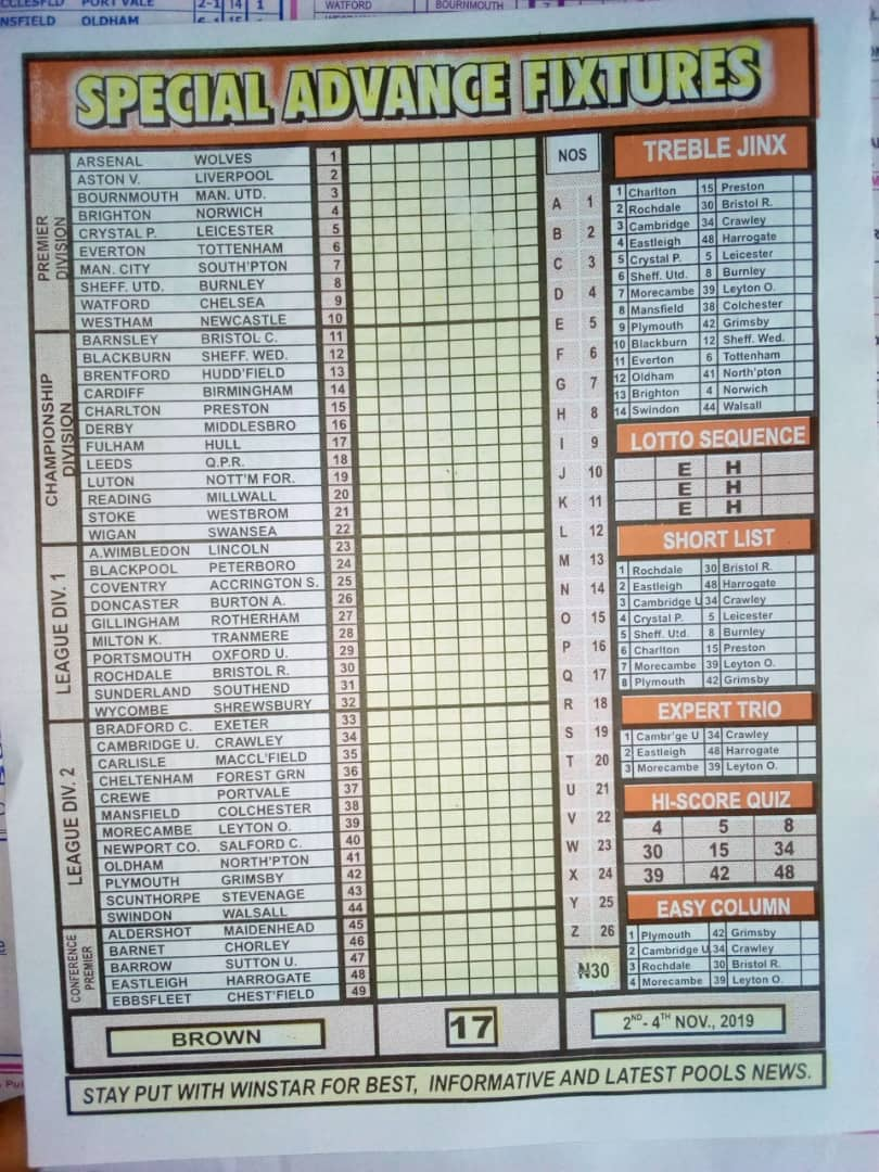 week 17 pool betting