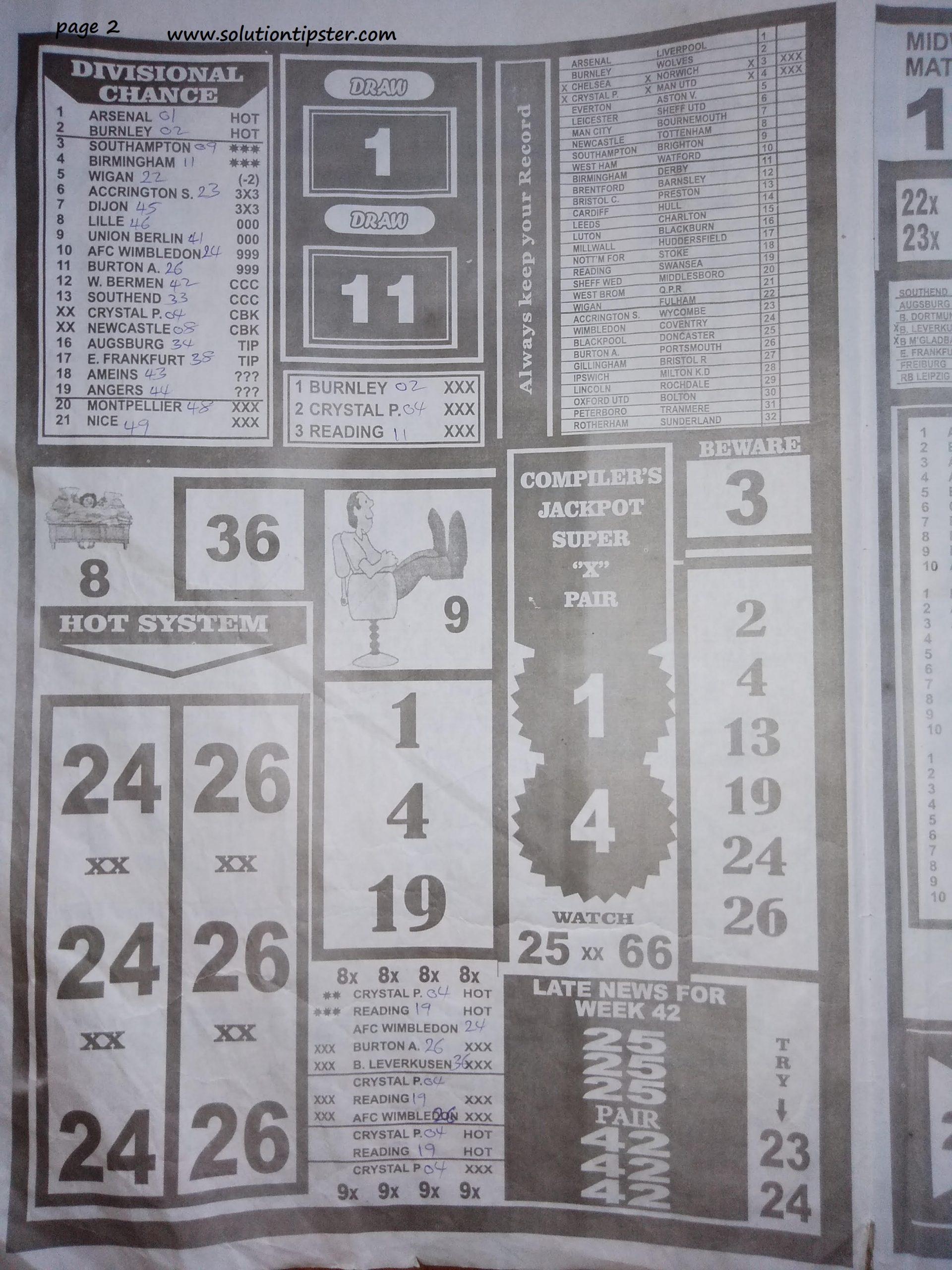 Week 43 pool betting hits on the street bet